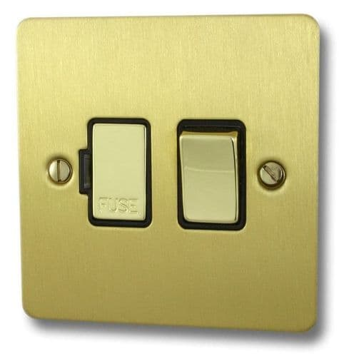 G&H FSB357 Flat Plate Satin Brushed Brass 1 Gang Fused Spur 13A Switched